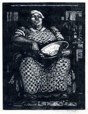 Annanbel Kidston - Seated lady with mixing bowl