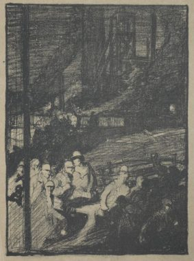 Sir Frank Brangwyn, RA. RE. RWS. - THE MINE