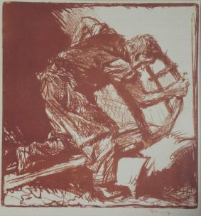 Sir Frank Brangwyn, RA. RE. RWS. - THE WHEEL