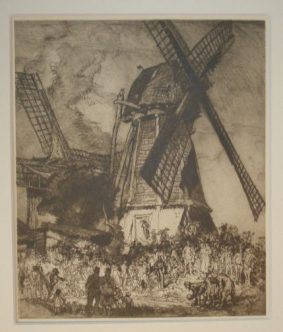 Sir Frank Brangwyn, RA. RE. RWS. - The Skittle Match