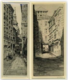 Jeanne Bull - Bow Lane; Middle Temple Lane