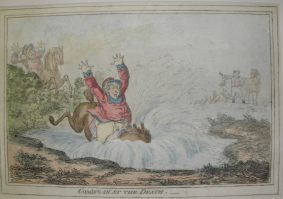 Gillray, James - 4 Restrikes inc. COMING IN AT THE DEATH