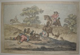 James Gillray - 4 Restrikes inc. HOUNDS FINDING