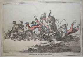 James Gillray - 4 Restrikes inc. HOUNDS THROWING OFF