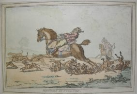 Gillray, James -4- Restrikes of HOUNDS IN FULL CRY (4)