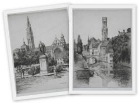Reginald Green - Quai Vert, Bruges & Antwerp Cathedral