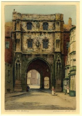 Herdman-Smith, Robert - Canterbury, Christ Church Gate