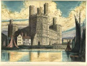Joseph Frank Pimm - Caernarvon Castle