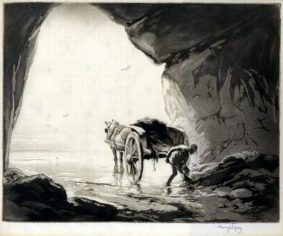 George Soper - Gathering Seaweed in a Cave ii