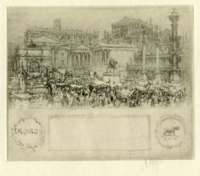 Sir William Walcot - Romans in the Forum