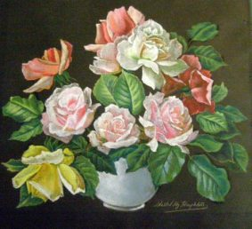 Walter H Houghton - 3 Floral Pastels -1