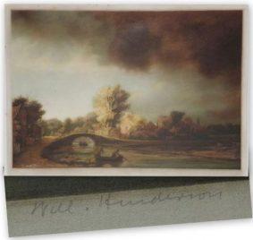 William Henderson - Mezzotint. The Old Stone Bridge